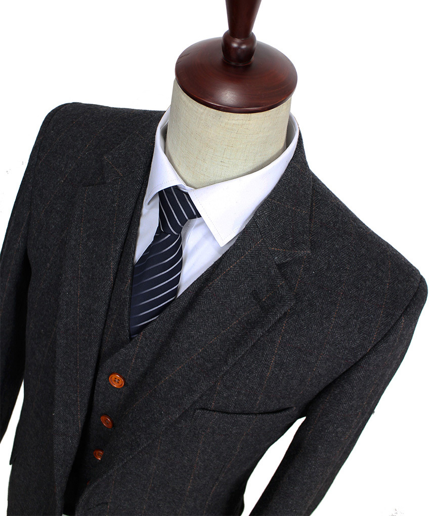 Popular Grey Herringbone Tweed Suit-Buy Cheap Grey Herringbone ...