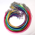 20pcs/lot Dia 1.5mm 17''-19'' Ajustable 14 Colors Waxed Cords Necklace Chain DIY Jewelry Supplies with Lobster Clasp