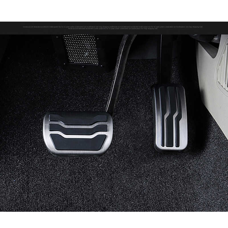 LitangLee Car Accelerator Pedal Pad Cover Foot Throttle Pedal Cover Sport  Racing Model For Ford Fiesta 2009~2019 AT