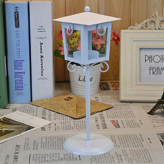 European Classic Stand Lantern Retro Style Candle Holder Wedding Lantern Party Decoration Romantic Feelings White & Black colors 4