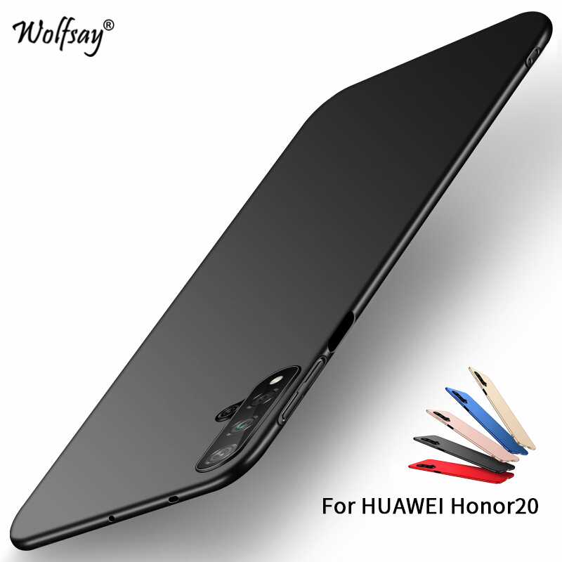 Huawei Honor 20 Case Silm PC Shell Luxury Smooth Hard Phone Bumper For Huawei Honor 20 Thin Back Cover Huawei Honor 20 Fundas in Fitted Cases from Cellphones Telecommunications