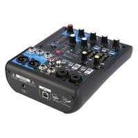 DJ Mixer 4 Channel Professional Power Audio Mixing Amplifier USB Slot 16DSP +48V Phantom Power for Microphones AU Plug 220~240V