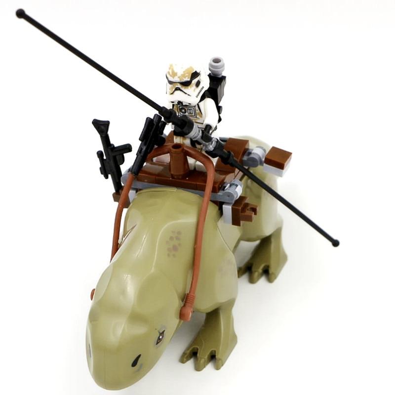 Single Compatible LegoINGlys Star Wars Dewback The Force Awakens Transparent Trooper Legacy Jabba's Rancor Building Blocks Toys