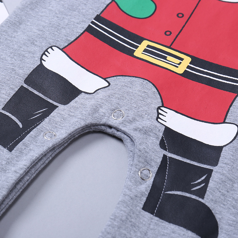 Hot Sale Baby Rompers Christmas Costume Newborn Baby Clothes Long sleeved Jumpsuits Children Infant Christmas Clothing in Rompers from Mother Kids