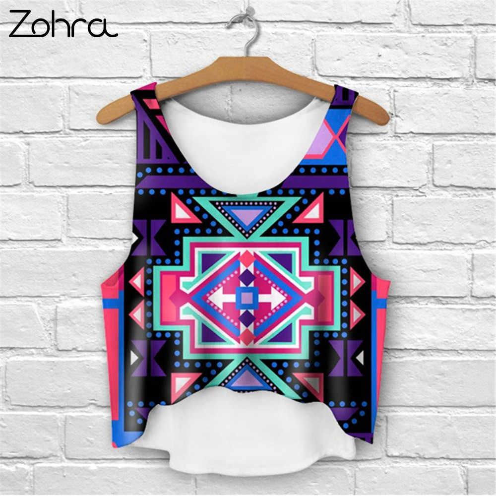 2893ebfc6f7566 ... Zohra Multi Colors T-Shirts 3D Print Women Tank Tops Camis Print  Camisoles   Tanks ...