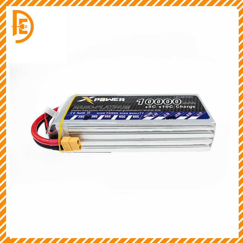1pcs 14.8 V 4s Lipo battery 14.8 V 10000 mAh 30C max 35C Xpower XT60 T EC5 XT90 plug for rc drone Helicopter Airplane parts 2016 hot sell 1pcs lipo battery 7 4 v 1200mah 30c for mxj x101 quadcopter spare parts made in china free shipping