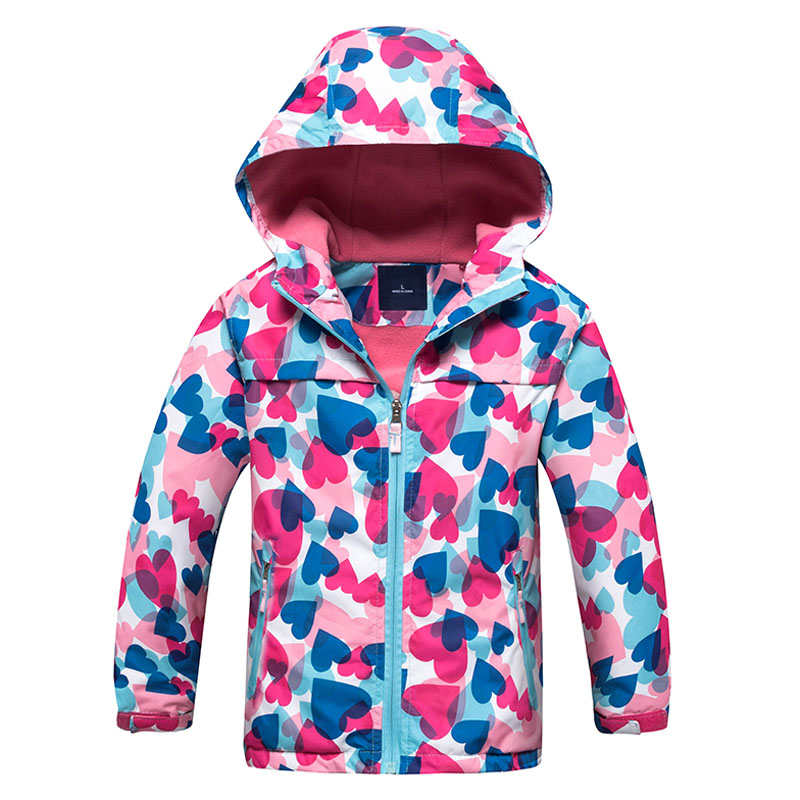 Children Polar Fleece Jacket Girl Sport Kids Coat Double-deck Hoodie Waterproof Windbreakers Girls Jackets 3-12Y Autumn Winter