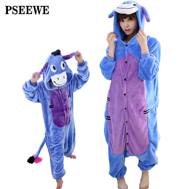 Animal pajamas one piece Family matching outfits Adult onesie Mother and daughter clothes Totoro Dinosaur Unicorn Pyjamas women