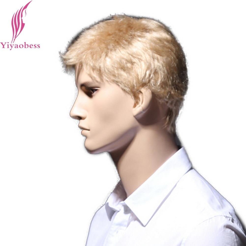 Yiyaobess 6 ιντσών ευθεία ξανθιά σύντομη - Συνθετικά μαλλιά - Φωτογραφία 4