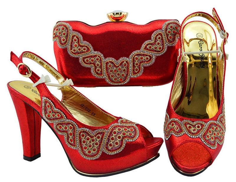 Dernière 4 5 Africains Soirée Strass De Pour Italiennes 3 Escarpins Chaussures Vert Décoré Ensemble 6 Sacs 1 Avec Talons Femmes Conception 2 Hauts Correspondant rqwB1rP