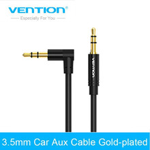 купить Vention Audio Jack 3.5mm Aux Cable Male to Male 90 Degree Angle Round Audio Cable for Car Headphone MP3/4 дешево