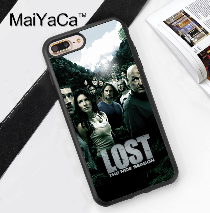 Lost TV Show Poster Printed Soft Rubber Phone Cases For Apple iphone 6 Case For iphone 6S 6Plus 7 7Plus 5 5S 5C SE