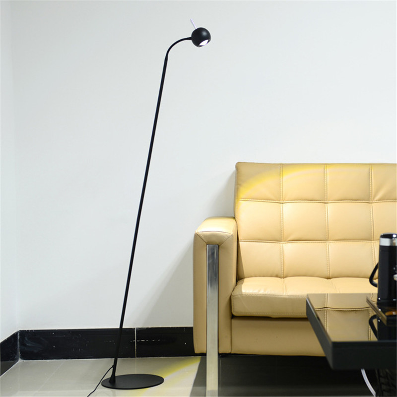 Nordic Simple Modern Bedroom LED Floor Lamp Creative Living Room Office Dimmable Light Vertical Study Lamp Free Shipping european led floor lamp simple modern living room bedroom study creative floor lamp vertical ceramic crystal landing lamps