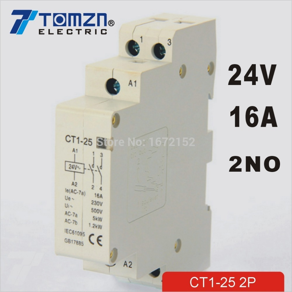 2p 16a 24v 50 60hz Din Rail Household Ac Contactor 2no Us42 Induction Cooker Pcb Circuit Diagram Electricalequipmentcircuit