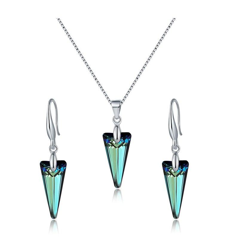 06ba980b9012 BAFFIN Spike COLLAR COLGANTE pendientes de cristales de Swarovski de Color  de plata conjuntos de joyas para Dia de las madres de las mujeres Chic  regalos