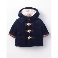 2016 new boys cotton clothing blue boy jacket jacket autumn and winter horns buckle cotton clothing