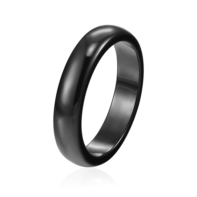 Wholesale Ceramic Jewelry wide 4mm And 6mm Top Quality Beautiful Black White Smo