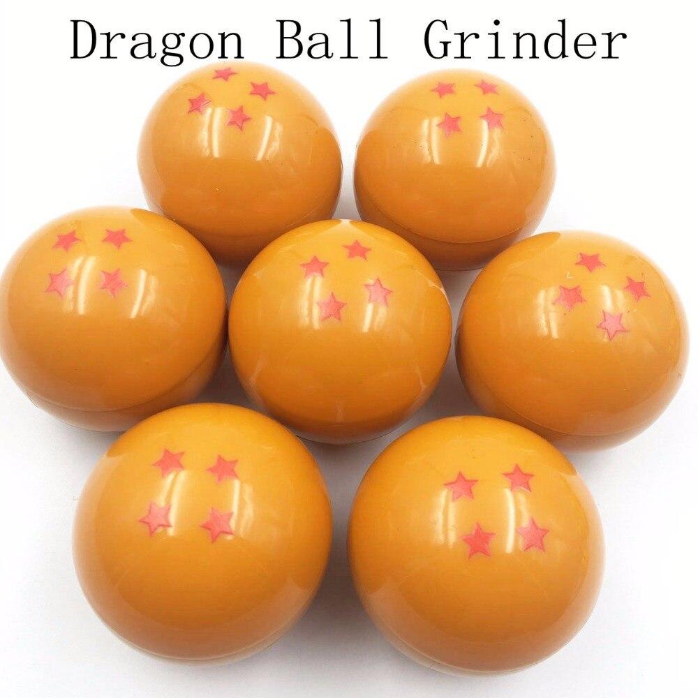 3 Schichten neue 4 Sterne Dragon Ball Grinder Weed Herb Tabak Chicha Shisha Rauch 55mm Crusher Grinder Hand Muller