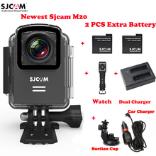 M20 Original SJCAM Wifi 4 K 30 M Impermeable Action Sports Cámara Del Coche DVR + 2 Batería + Cargador Doble + control remoto + Cargador de Coche + Ventosa