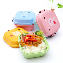 Cartoon Lunch Bento Box 2 Layers Plastic Can Children Kids Child Microwave Thermal Insulation Keep Warm Container Dinnerware