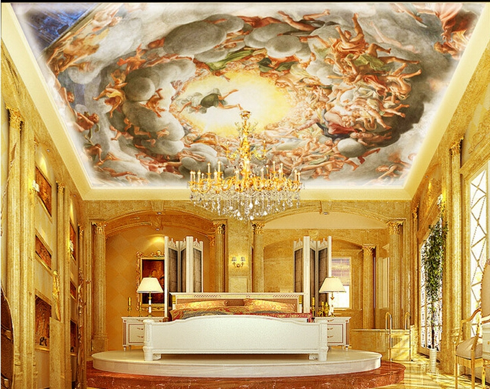 3D photo wallpaper European religious custom wallpaper ceiling mural Angel wallpaper mural custom european style wallpapers little angel fresco wallpaper for walls 3d hotel greek mythology mural western photo wallpapers