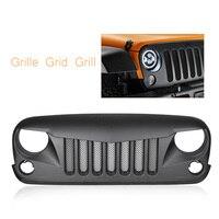 For Jeep Wrangler JK 2007 2017 Front Eagle Eye Grill Car ABS Grille Matte Black
