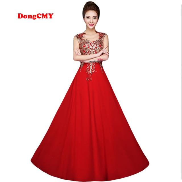 f8a5fb02b919 € 40.79 7% de DESCUENTO|DongCMY 2019 rojo largo diseño vestidos formales  Mujer vestidos longo vestido de fiesta vestido de noche en Vestidos de ...