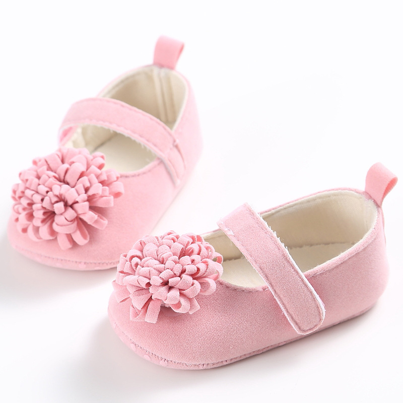 kidadndy Baby Girl Crib Shoes 0-1 Year old Summer Baby Girl Shoes Newborn Soft Bottom Flowers Princess Series Baby Shoes YD221R