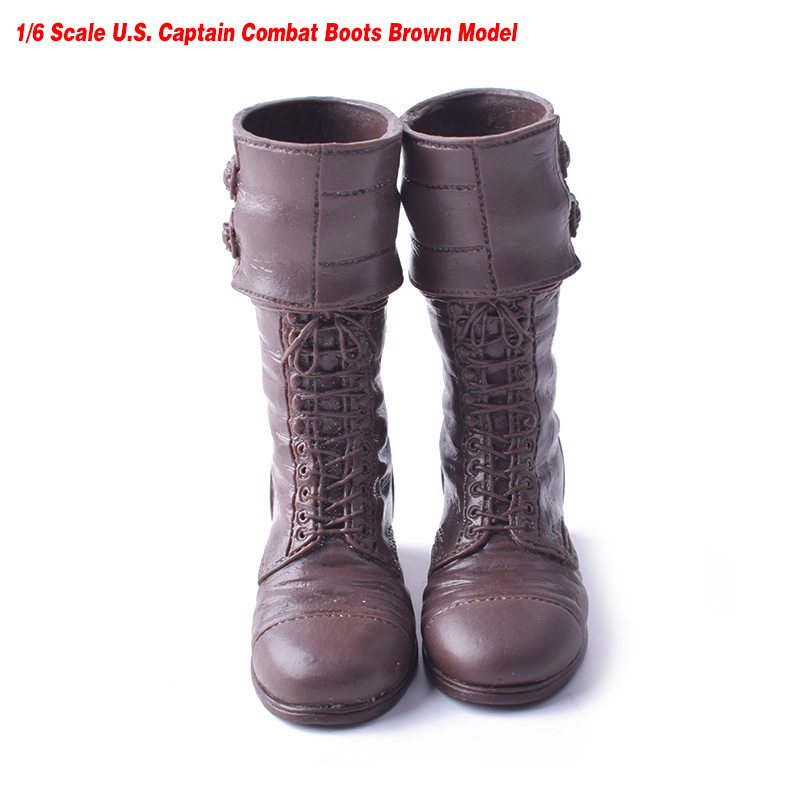 1:6 Scale Soldier Accessories HT W Avenger Alliance U.S. Captain Combat Boots Brown Fit 12 Inch Action Figure Doll Toys фигурка planet of the apes action figure classic gorilla soldier 2 pack 18 см
