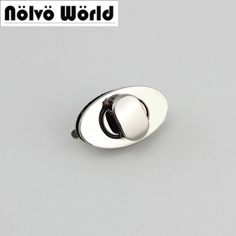 30sets/lot 6colors High Quality Oval Ellipse Lock Metal Functional Lock For Handbags Factory Hardware Wholesale Price 10sets