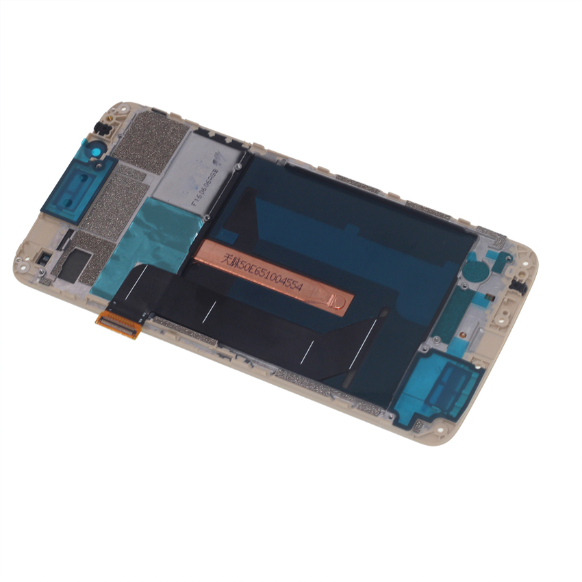 Image 3 - original with frame AMOLED screen for ZTE Axon 7 A2017 A2017U A2017G LCD+touch screen digitizer oled display repair parts-in Mobile Phone LCD Screens from Cellphones & Telecommunications