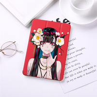 """2 3 3 Girl Print Leather Case For  iPad 2017/2018 9.7"""" PU Leather Stand Cover Hard PC Back Case For iPad 2 3 4 auto sleep & wake up (1)"""