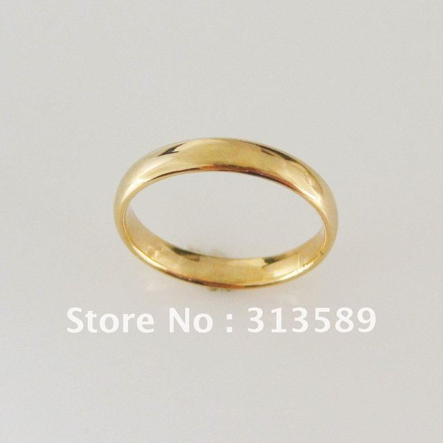MIN ORDER 10$ CAN MIX DESIGN YELLOW GOLD OVERLAY GP PLAIN 3MM