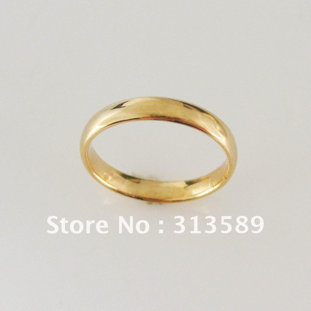min order 10can mix design yellow gold overlay gp plain 3mm