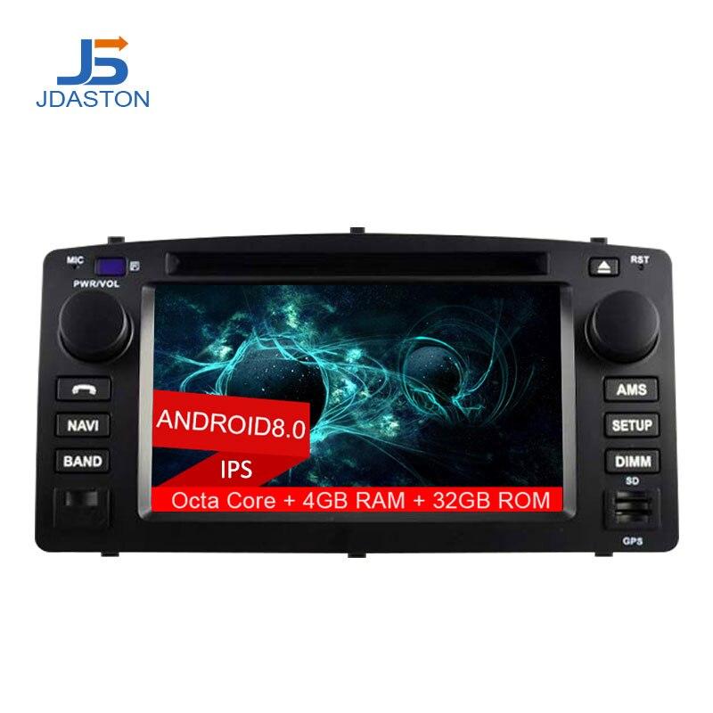 JDASTON 2 DIN Android 8.0 Lecteur DVD de Voiture Pour Toyota Corolla E120 BYD F3 Octa Cores 4g + 32g De Voiture Radio Multimédia GPS Audio Stéréo