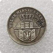 1835 Polonia 10 grosze copia de moneda