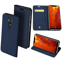 Original Dux Ducis Pu Leather Case For Nokia 8.1 Coque Luxury Ultra Thin Flip Wallet Cover Phone Housing