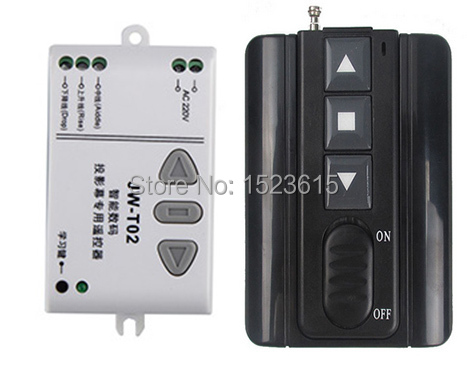 AC220V Motor Controller Motor Wireless Remote Control Switch System UP/Down/Stop Tubular Motor Controller Forward Reverse ac 220v motor wireless remote control switch up down stop tubular motor controller motor forward reverse tx rx latched