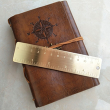 Outdoor Camping Equipment High Quality Brass Scale Portable Vintage Bookmarks Copper Ruler Mini EDC Tool for