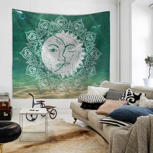 Image 4 - Mandala Hand of Fatima Printing Wall Tapestry Hanging Beach Towel Boho Dorm Decor Home Witchcraft Celestial Sun Moon Blanket