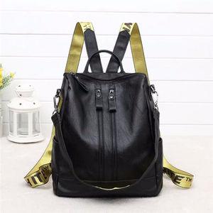 Image 5 - 2018 Yeni Moda kadın sırt çantası Yüksek Kaliteli Gençlik Deri gençler için sırt çantaları Kızlar Kadın Okul omuzdan askili çanta Sırt Çantası mochil
