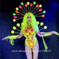 Fluorescent Sexy Lady Clothes Dance Team Performance Clothing Nightclub Armor Ballroom S Costume