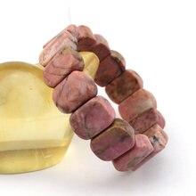 Браслет с бусинами из родонита браслет натурального камня самодельные