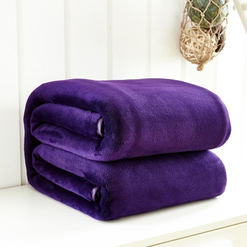 Online Get Cheap Purple Blanket Full Aliexpress Com