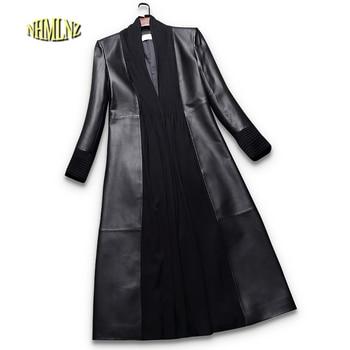 Otoño de las mujeres chaqueta de cuero de 2019 nuevo ocio color puro de manga larga temperamento elegante de cuero genuino de las mujeres chaqueta LH25