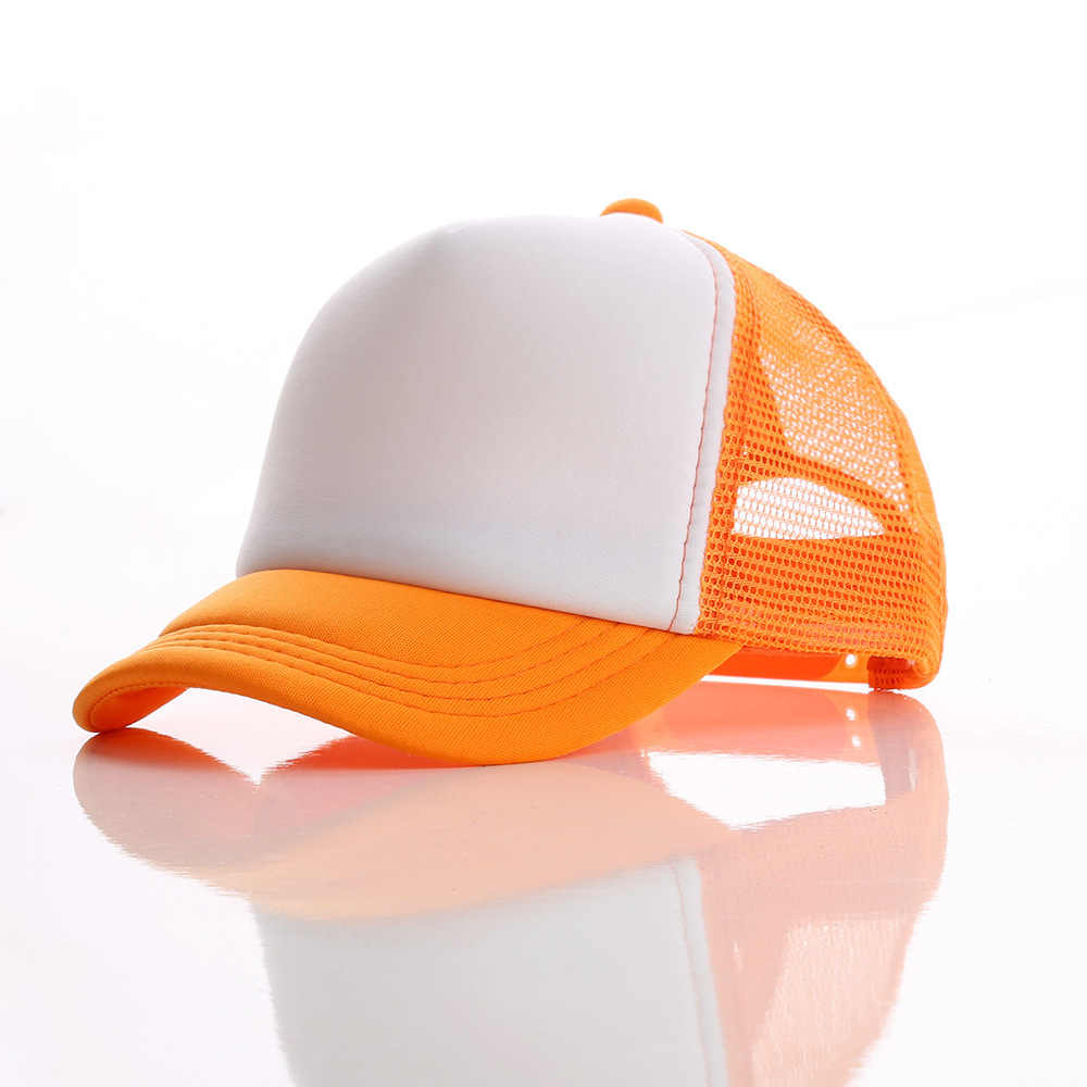 14239911a4a1f ... Beckyruiw Wholesale Children Solid Color Mesh Baseball Caps Boy and  Girl Plain Sun Cap Kid DIY ...