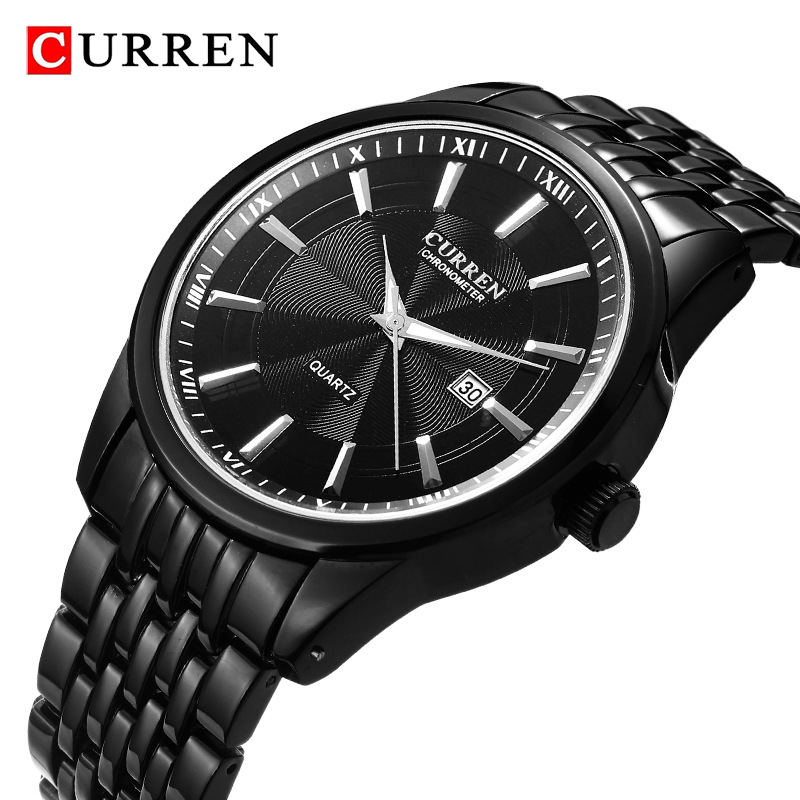 <font><b>CURREN</b></font> Men's Sports Analog Quartz Watch Men Watches Top Brand Luxury Stainless Steel Waterproof Business Watch Relogio Masculino image