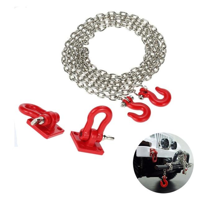 1/10 accesorio de orugas cadena de remolque de gancho de alta resistencia para coche de orugas de escalada RC