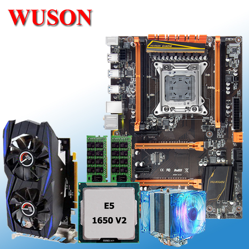купить New arrival!!!HUANAN deluxe X79 motherboard processor Xeon E5 1650 V2 RAM 16G(2*8G) DDR3 RECC Video card GTX960 2G DDR5 CPU Fan онлайн