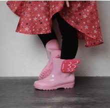 Дети Резиновая Резиновые Девушки Сапоги Дети Младенческая Противоскользящие Дождь Сапоги с Крыла нескользящей Резиновые Сапоги для Девочек Детей обувь